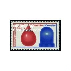1 عدد تمبر اهداء خون - جمهوری فدرال آلمان 1974
