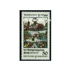 1 عدد تمبر شهر نئوس- جمهوری فدرال آلمان 1975
