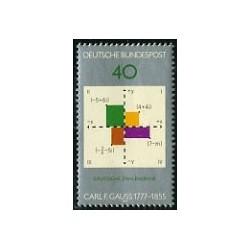 1 عدد تمبر کارل فردریش گاوس - جمهوری فدرال آلمان 1977