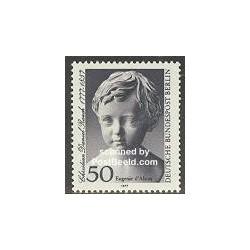 1 عدد تمبر کریستین دانیل روچ - مجسمه ساز - برلین آلمان 1977