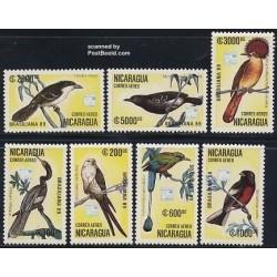 2 عدد تمبر پرندگان - نیکاراگوئه 1989