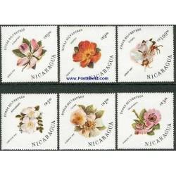 6 عدد تمبر رزهای وحشی - نیکاراگوئه 1986