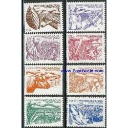 8 عدد تمبر کشاورزی - نیکاراگوئه 1987