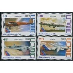 4 عدد تمبر هواپیمائی کوبانا - کوبا 2014