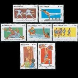 7 عدد تمبر بازیهای پان آمریکن - نیکاراگوئه 1983