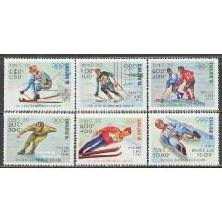 6 عدد تمبر المپیک زمستانی ساریوو - لائوس 1983