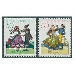 2 عدد تمبر مشترک اروپا - Europa Cept - رقصهای فورکلوریک - جمهوری فدرال آلمان 1981