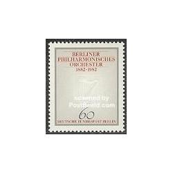 1 عدد تمبر ارکستر فیلارمونیک - برلین آلمان 1982