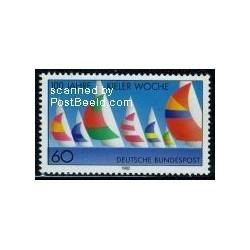 1 عدد تمبر قایقهای کیل - جمهوری فدرال آلمان 1982