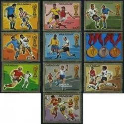 10 ع تمبر جام جهانی فوتبال آلمان - پاراگوئه 1973