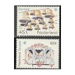 2 عدد تمبر مشترک اروپا - Europa Cept - فورکلور - هلند 1981