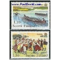 2 عدد تمبر مشترک اروپا - Europa Cept - فورکلور - فنلاند 1981