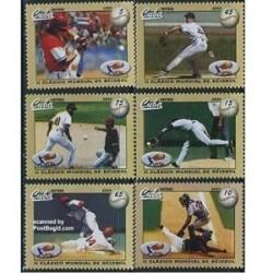6 عدد تمبر  بیسبال - کوبا 2009