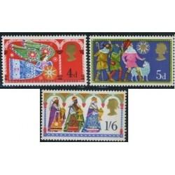 3 عدد تمبر کریستمس - انگلیس 1969