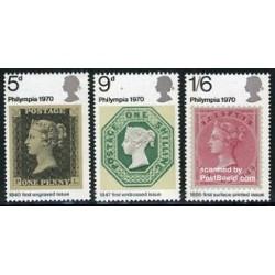 3 عدد تمبر فیلیمپیا - نمایشگاه تمبر - انگلیس 1970