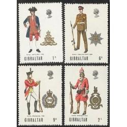 4 عدد تمبر یونیفرمها - جبل الطارق 1969