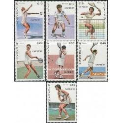 7 عدد تمبر جام تنیس کاپکس - نیکاراگوئه 1987