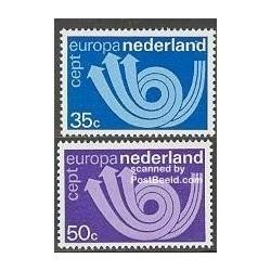 2 عدد تمبر مشترک اروپا - Europa Cept -هلند 1973