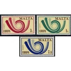 2 عدد تمبر مشترک اروپا - Europa Cept - مالت 1973