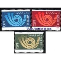 3 عدد تمبر مشترک اروپا - Europa Cept  - یونان 1973