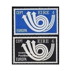 2 عدد تمبر مشترک اروپا - Europa Cept  - ایرلند 1973