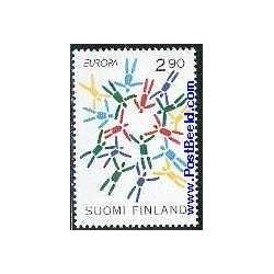 1 عدد تمبر مشترک اروپا - Europa Cept  - صلح و آزادی - فنلاند 1995
