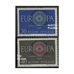 2 عدد تمبر مشترک اروپا - Europa Cept - فنلاند 1960