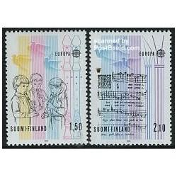 2 عدد تمبر مشترک اروپا - Europa Cept - سال موسیقی - فنلاند 1985