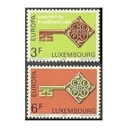 2 عدد تمبر مشترک اروپا - Europa Cept - لوگزامبورگ 1968