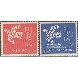 2 عدد تمبر مشترک اروپا - Europa Cept - لوگزامبورگ 1961