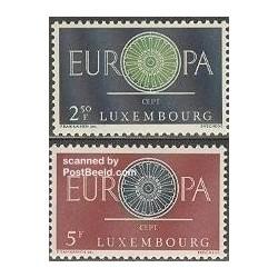 2 عدد تمبر مشترک اروپا - Europa Cept - لوگزامبورگ 1960