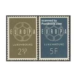 2 عدد تمبر مشترک اروپا - Europa Cept - لوگزامبورگ 1959