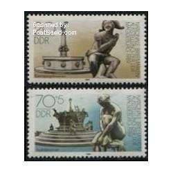 2 عدد تمبر نمایشگاه تمبر ماگ دبورگ - جمهوری دموکراتیک آلمان 1989