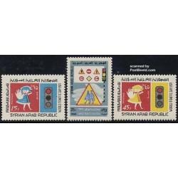 3 عدد تمبر روز جهانی ترافیک - سوریه 1971