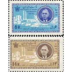 1206 - تمبر دیدار شارل دوگل رئیس جمهور فرانسه از ایران 1342 تک
