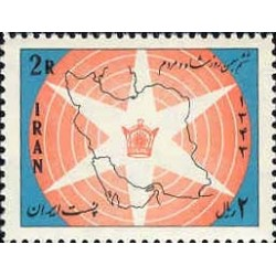 1265 - تمبر لوایح ششگانه (3) 1343 تک