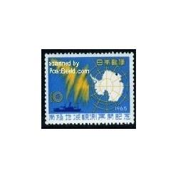 1 عدد تمبر هواشناسی قطب جنوب - ژاپن 1965