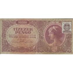 اسکناس 10000 پنگو - مجارستان 1945 - با تمبر بانک