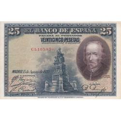 اسکناس 25 پزوتا - اسپانیا 1928 غیربانکی