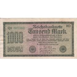اسکناس 1000 مارک - رایش آلمان 1922 غیر بانکی - فیلیگران تصویر