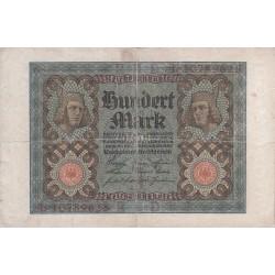 اسکناس 100 مارک - رایش آلمان 1920 سریال 8 رقمی - حرف چاپی J