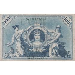اسکناس 100 مارک - رایش آلمان 1908 سریال و مهر سبز
