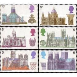 6 عدد تمبر کلیساها - انگلیس 1969