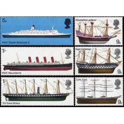 6 عدد تمبر کشتیها - انگلیس 1969