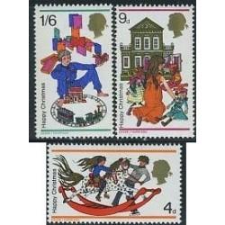 3 عدد تمبر کریستمس - انگلیس 1968