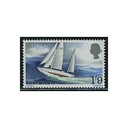 1 عدد تمبر جیبسی ماوس 4 - قایق بادی   - انگلیس 1967