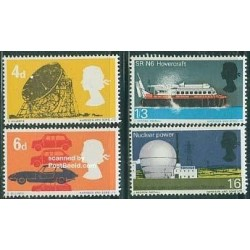 4 عدد تمبر تکنولوژی - انگلیس 1966