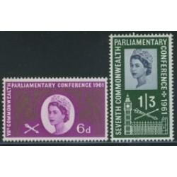2 عدد تمبر کنفرانس کشورهای مشترک المنافع - انگلیس 1961