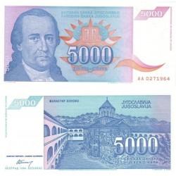 اسکناس 5000 دینار - یوگوسلاوی 1994