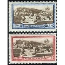 2 عدد تمبر اکسپرس  - واتیکان 1933